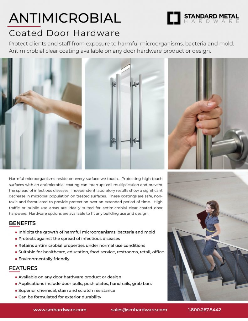 ANTIMICROBIAL Coated Door Hardware