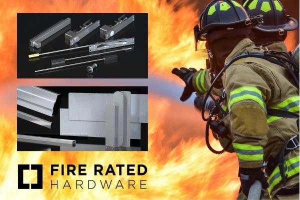 Fire rated door hardware